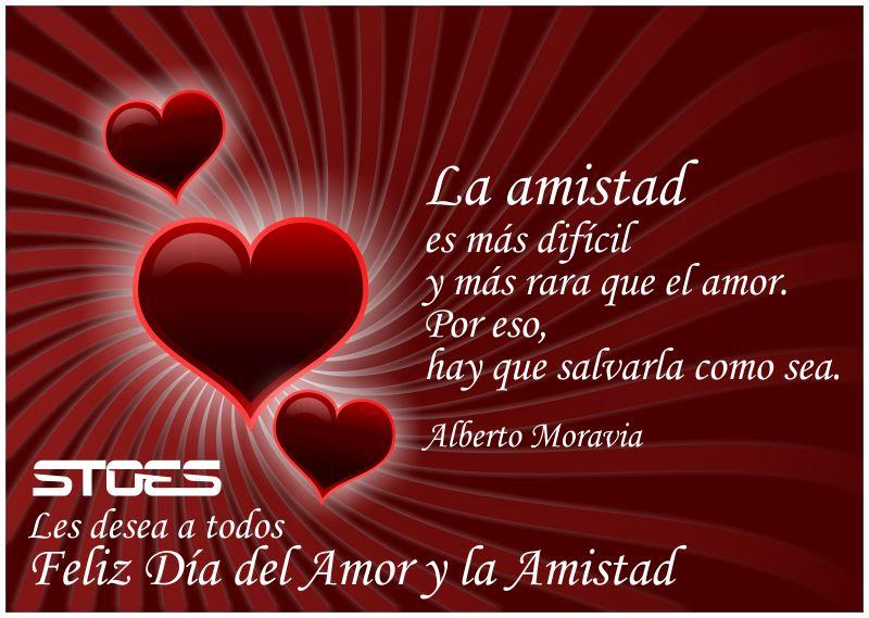 Tarjeta de felicitacion de STOES por el 14 de febrero Día de San Valentín